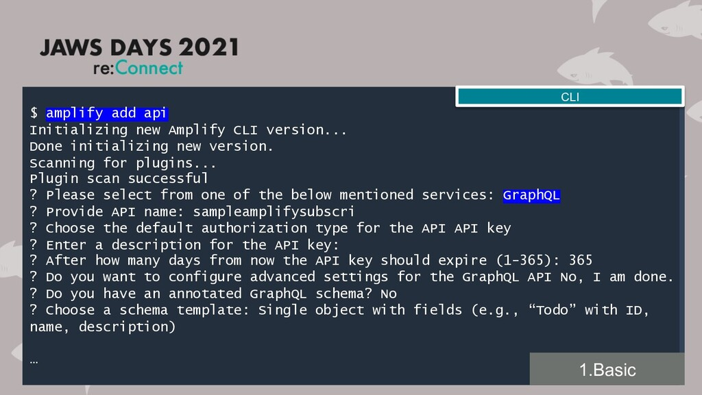 $ amplify add api Initializing new Amplify CLI ...