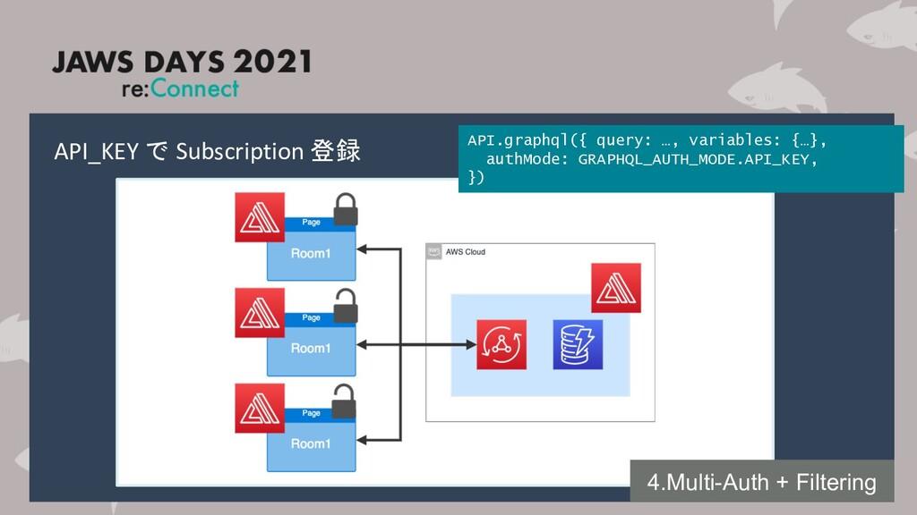 API_KEY で Subscription 登録 4.Multi-Auth + Filter...