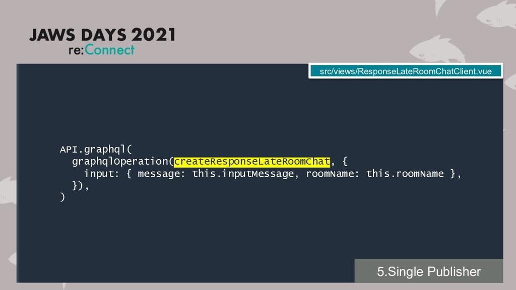 API.graphql( graphqlOperation(createResponseLat...