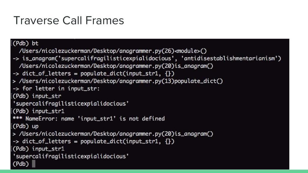 Traverse Call Frames