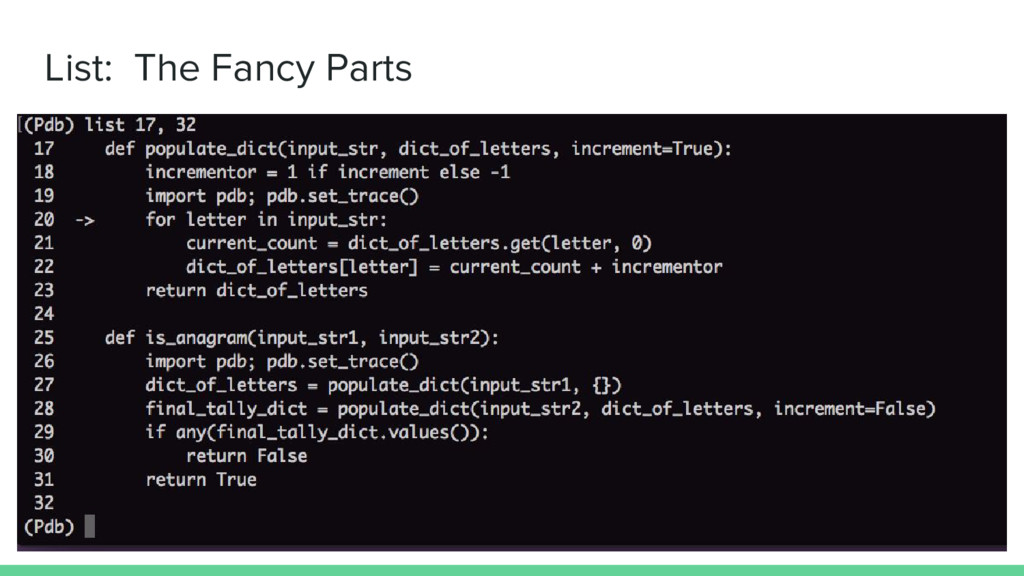 List: The Fancy Parts
