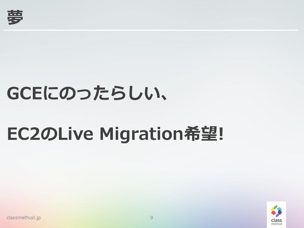 classmethod.jp 9 夢 GCEにのったらしい、 EC2のLive Migrat...