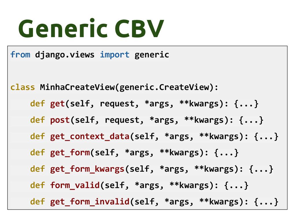 Generic CBV from django.views import generic cl...