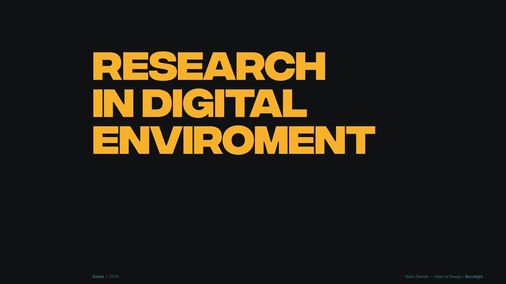 RESEARCH IN DIGITAL ENVIROMENT Dafed / 2019 Mar...