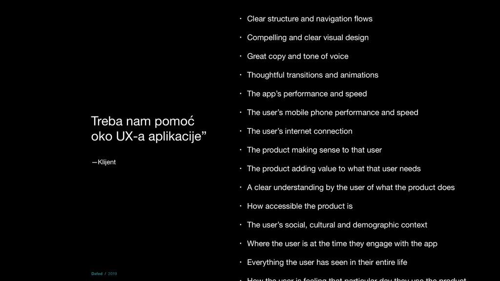 """Treba nam pomoć oko UX-a aplikacije""""  —Klijent ..."""
