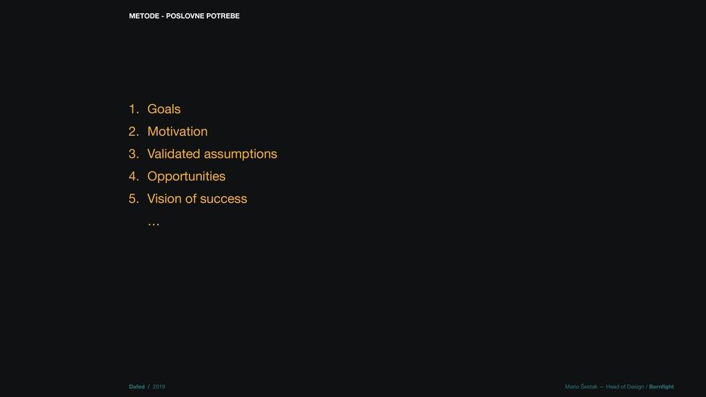 Dafed / 2019 Mario Šestak — Head of Design / Bo...