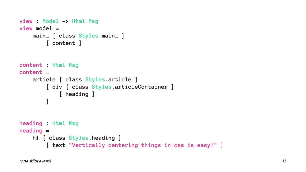 view : Model -> Html Msg view model = main_ [ c...
