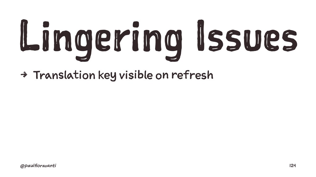 Lingering Issues 4 Translation key visible on r...