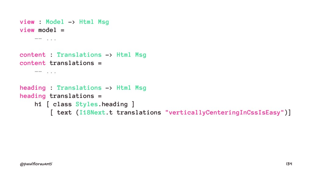 view : Model -> Html Msg view model = -- ... co...
