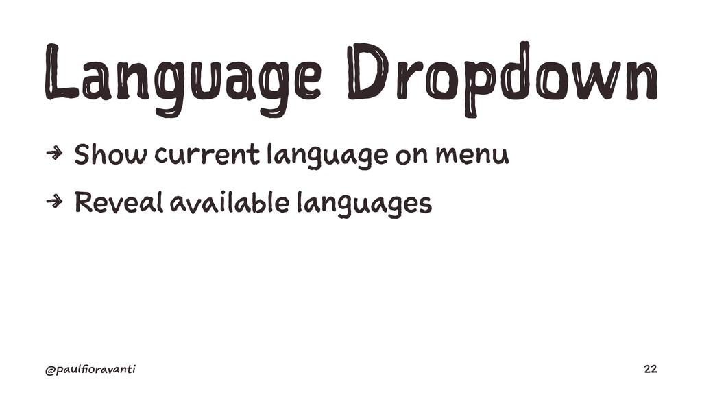 Language Dropdown 4 Show current language on me...