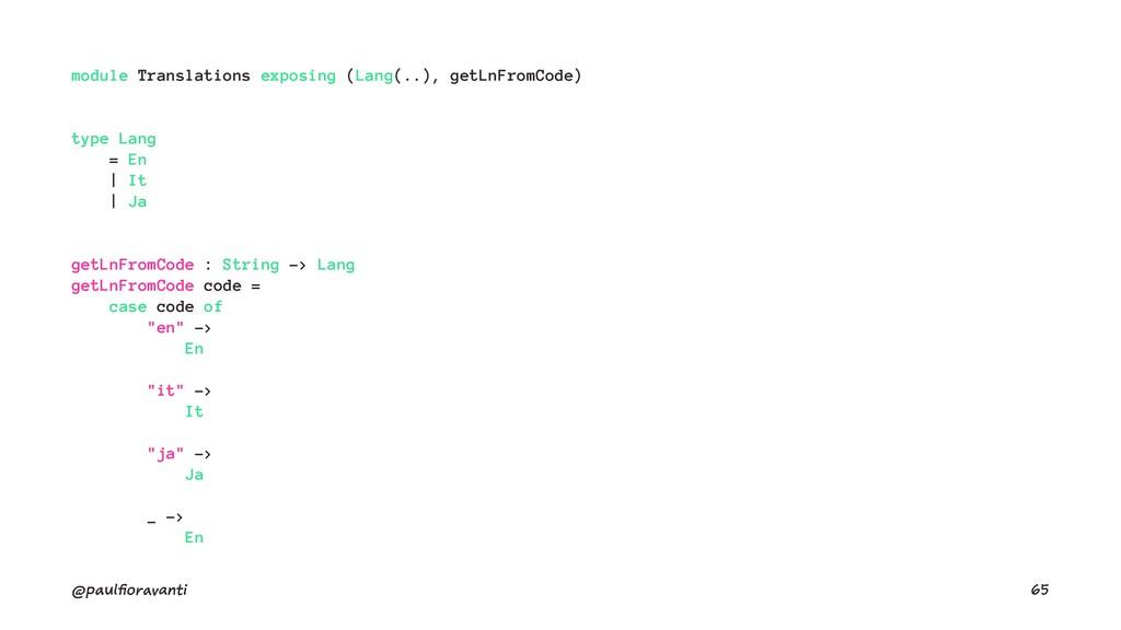module Translations exposing (Lang(..), getLnFr...