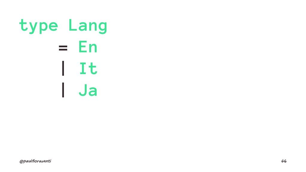 type Lang = En | It | Ja @paulfioravanti 66