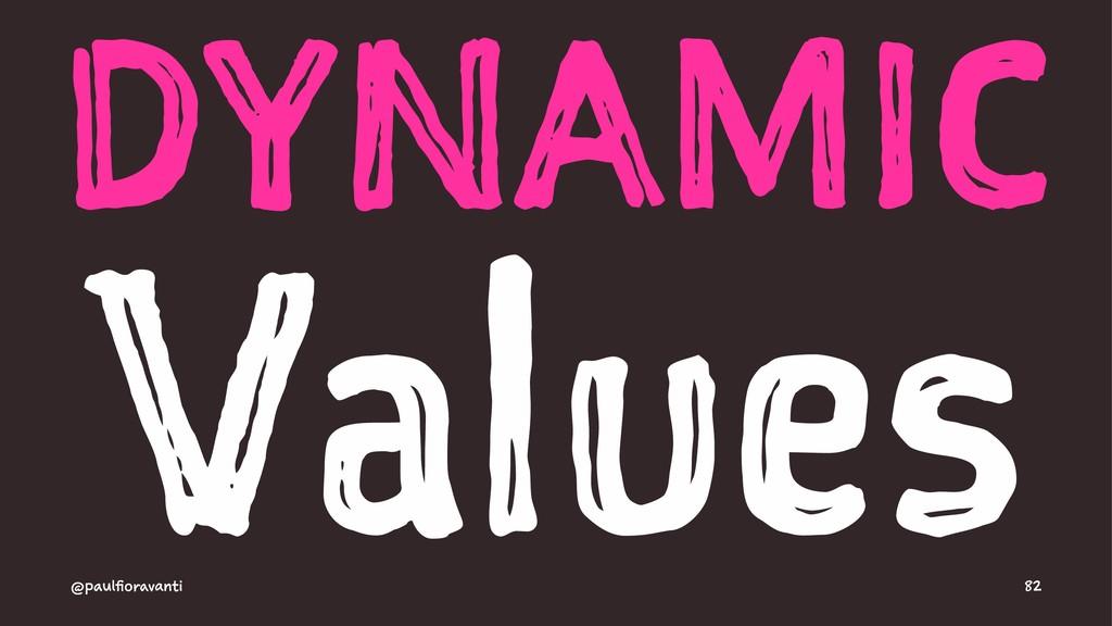 DYNAMIC Values @paulfioravanti 82