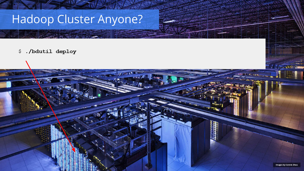 Hadoop Cluster Anyone? Images by Connie Zhou $ ...