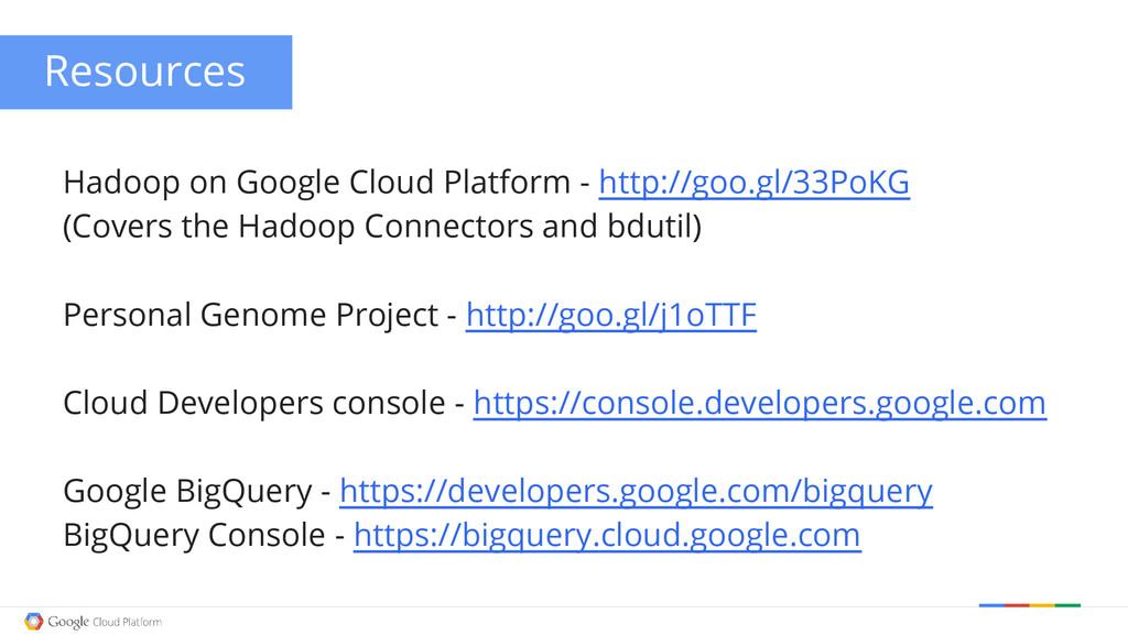Hadoop on Google Cloud Platform - http://goo.gl...