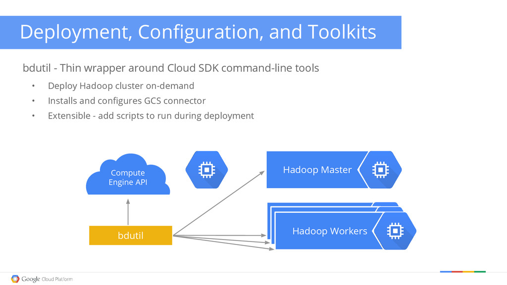 Deployment, Configuration, and Toolkits bdutil ...