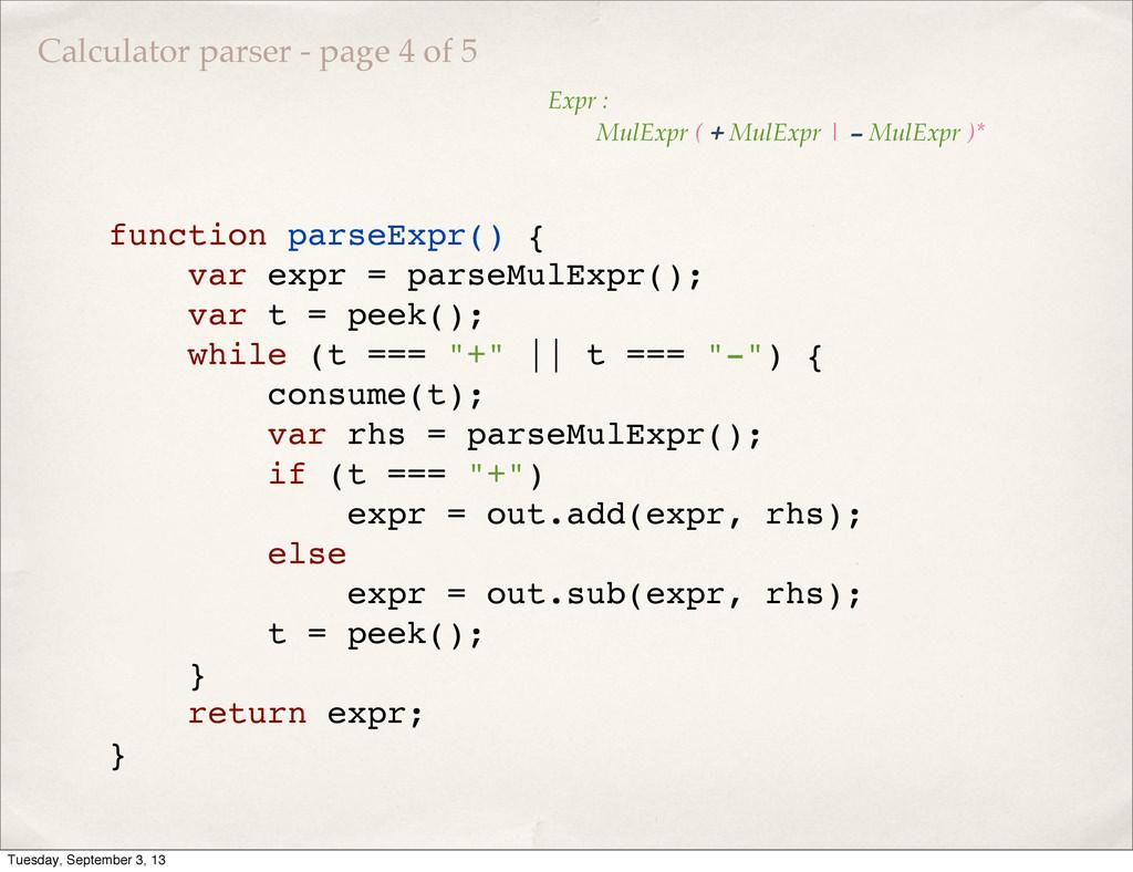function parseExpr() { var expr = parseMulExpr(...
