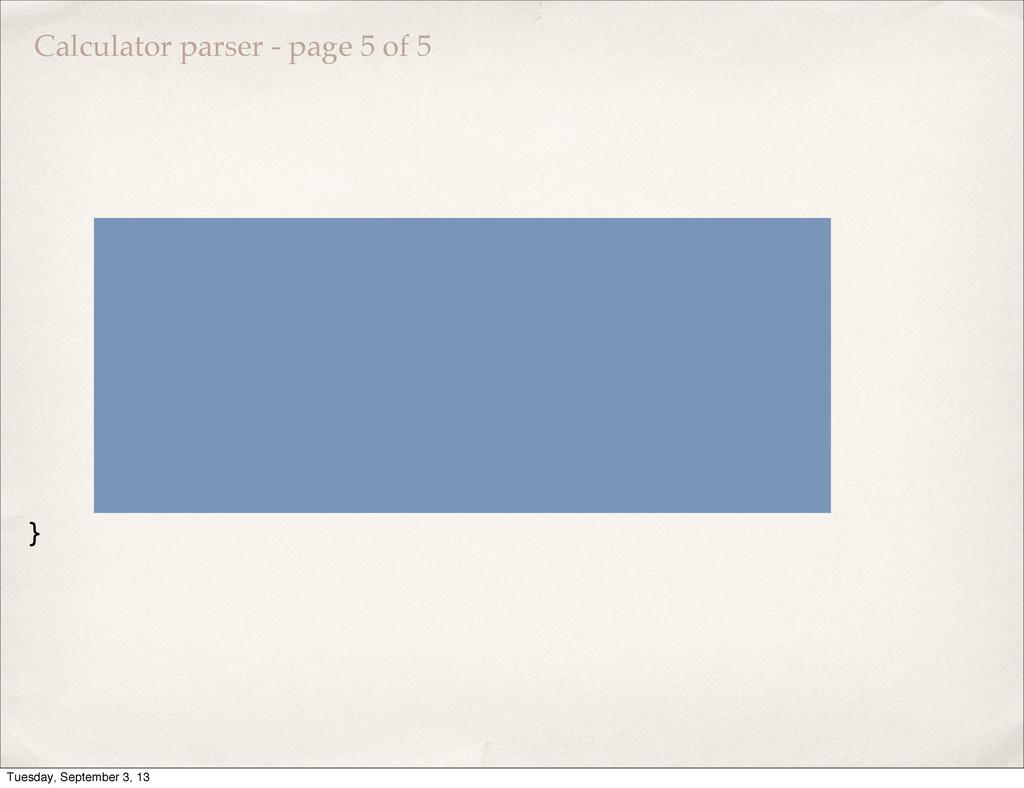Calculator parser - page 5 of 5 var result = pa...