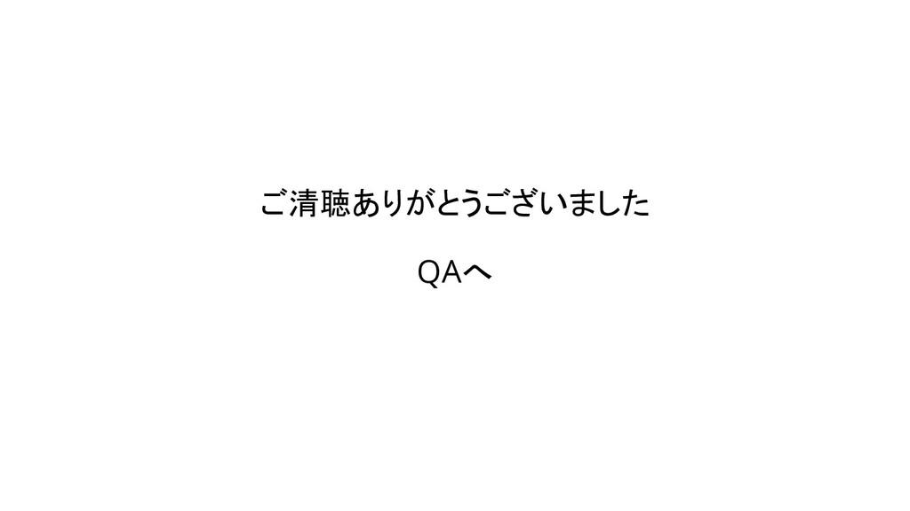 ご清聴ありがとうございました QAへ