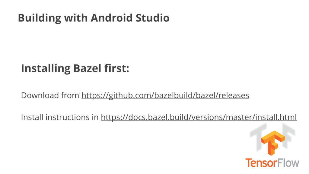 Building with Android Studio Installing Bazel fi...