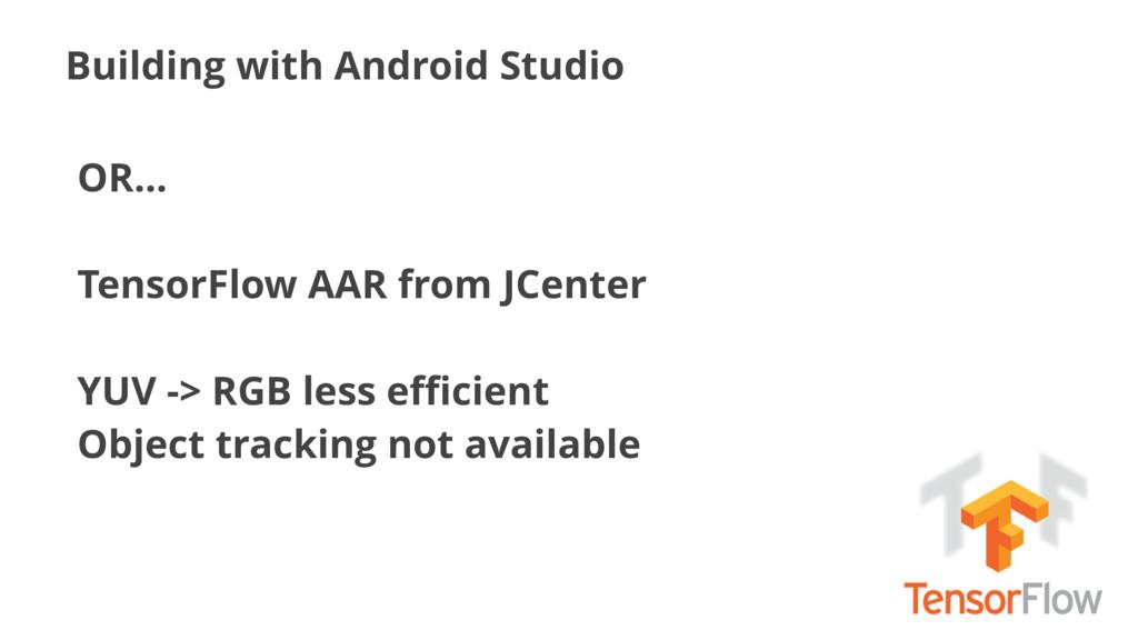Building with Android Studio OR… TensorFlow AAR...