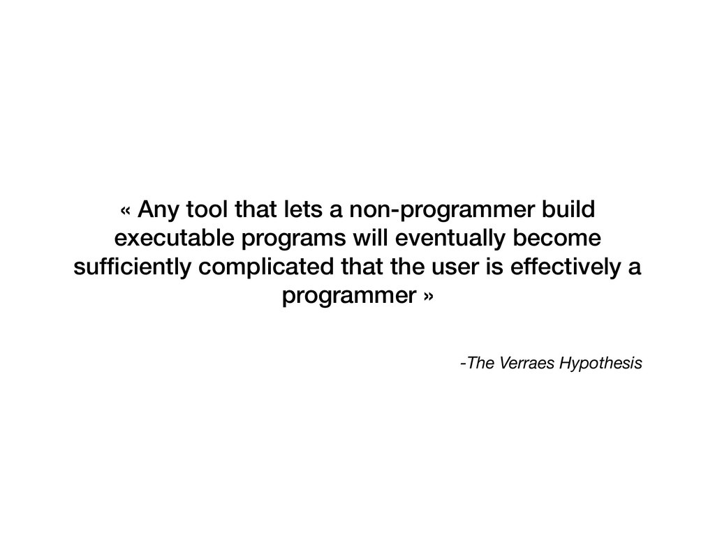 -The Verraes Hypothesis « Any tool that lets a ...