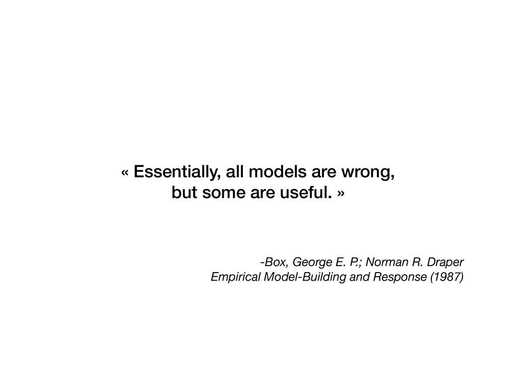-Box, George E. P.; Norman R. Draper Empirical ...