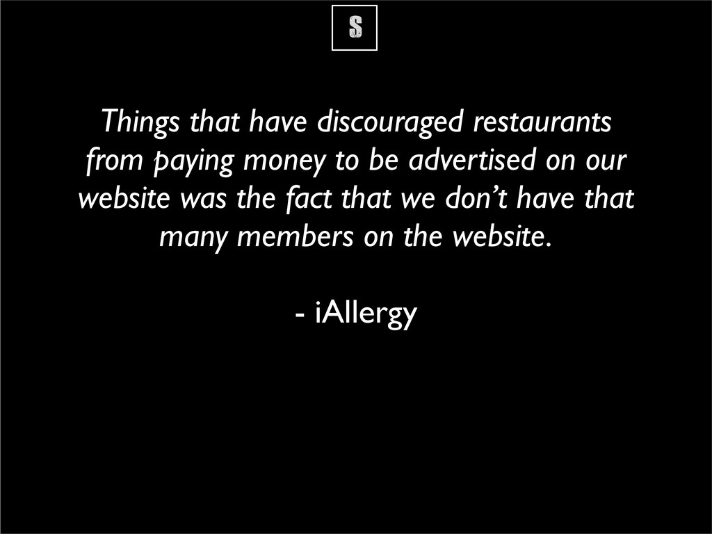 S Things that have discouraged restaurants from...