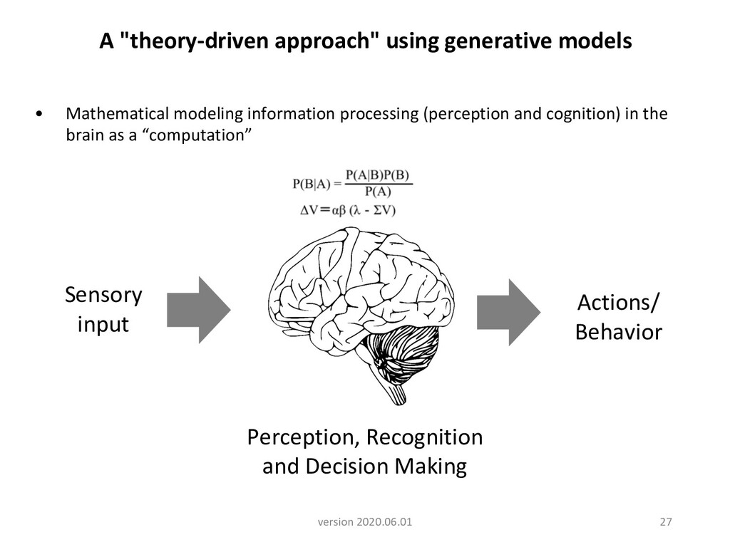 Perception, Recognition and Decision Making Sen...