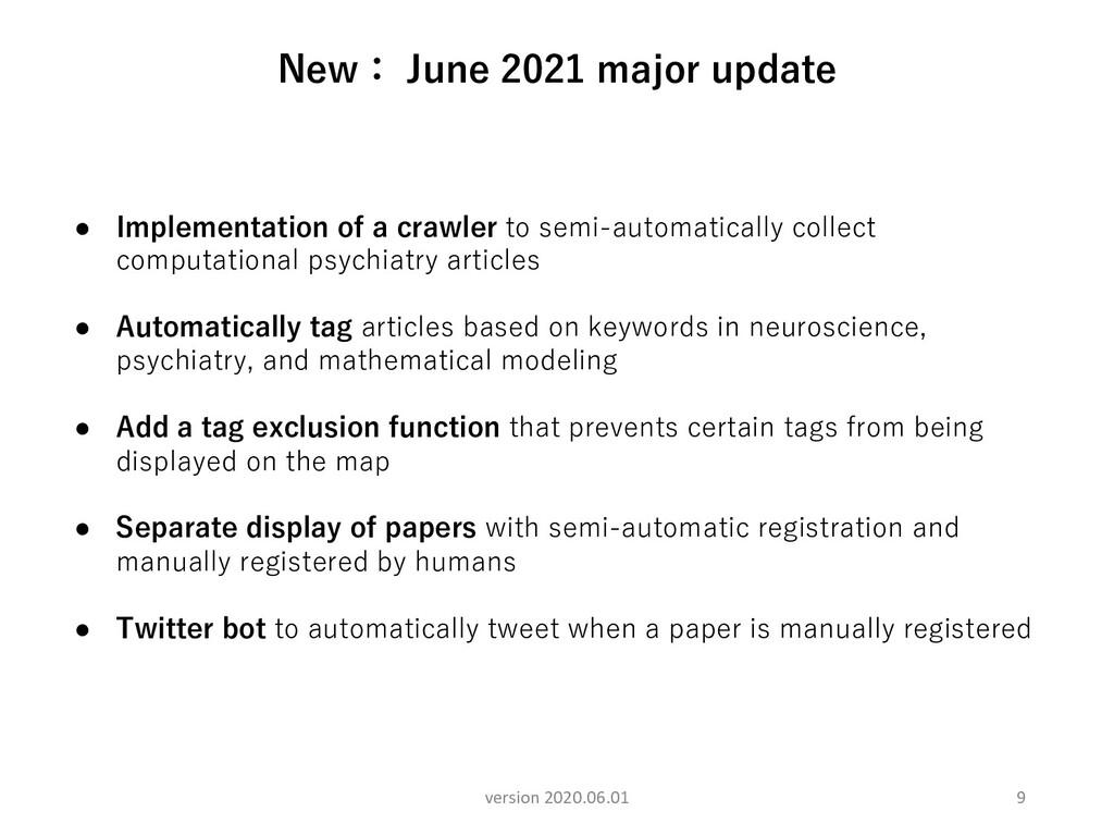 9 New: June 2021 major update version 2020.06.0...