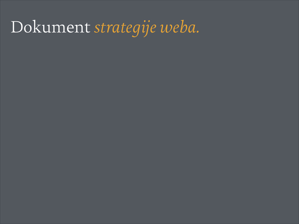 Dokument strategije weba.