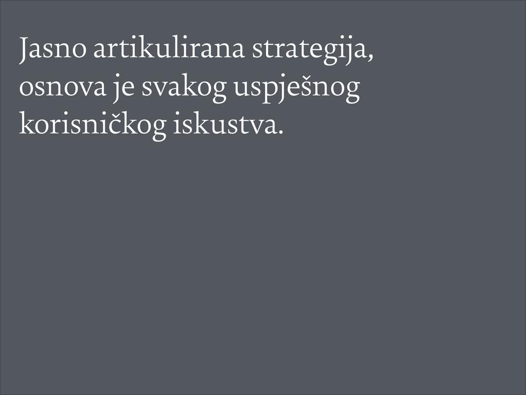 Jasno artikulirana strategija, osnova je svakog...