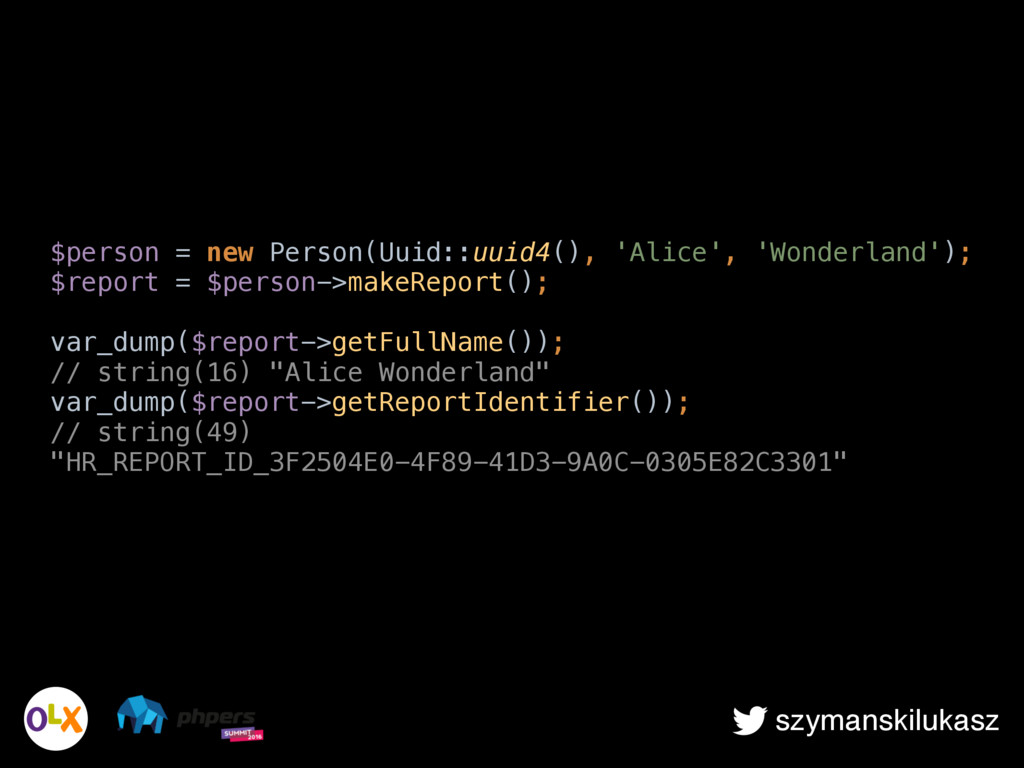 szymanskilukasz $person = new Person(Uuid::uuid...