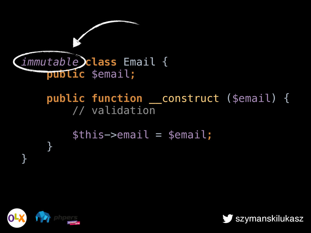 szymanskilukasz immutable class Email { public...