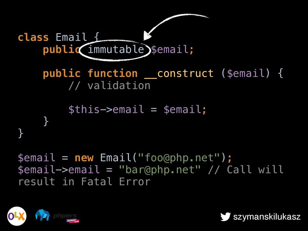 szymanskilukasz class Email { public immutable...