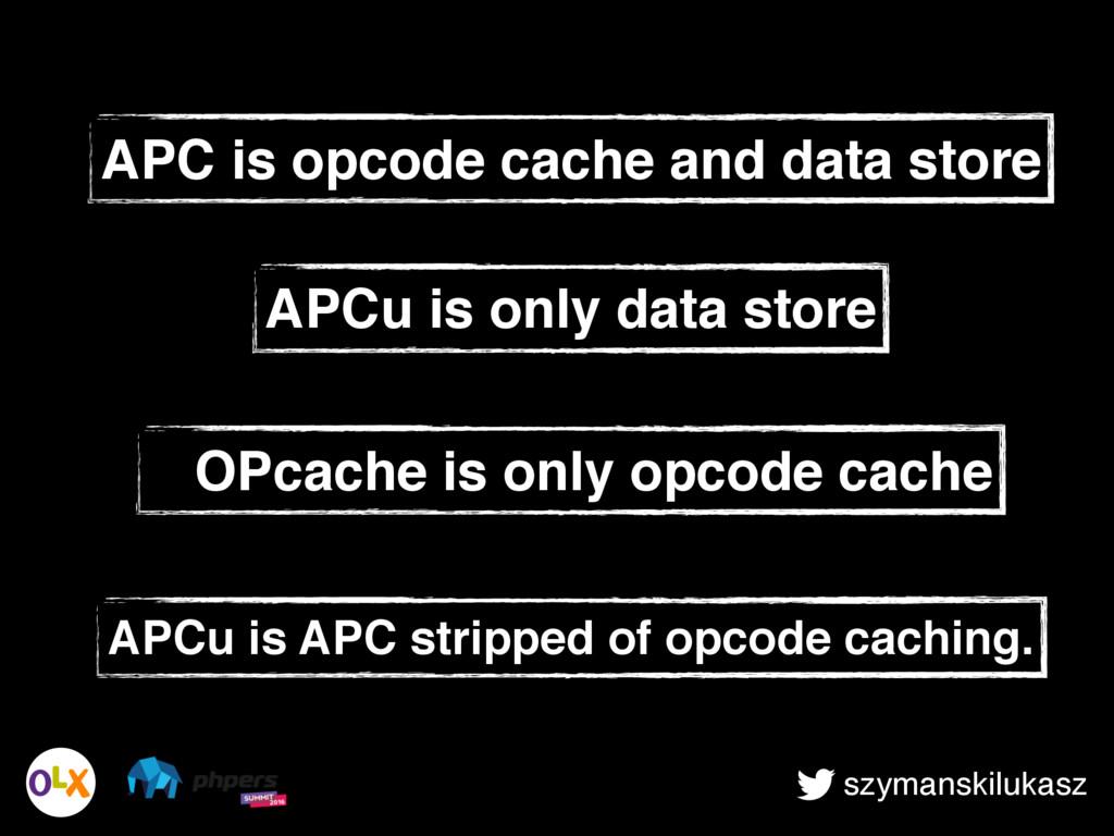 szymanskilukasz APCu is APC stripped of opcode ...