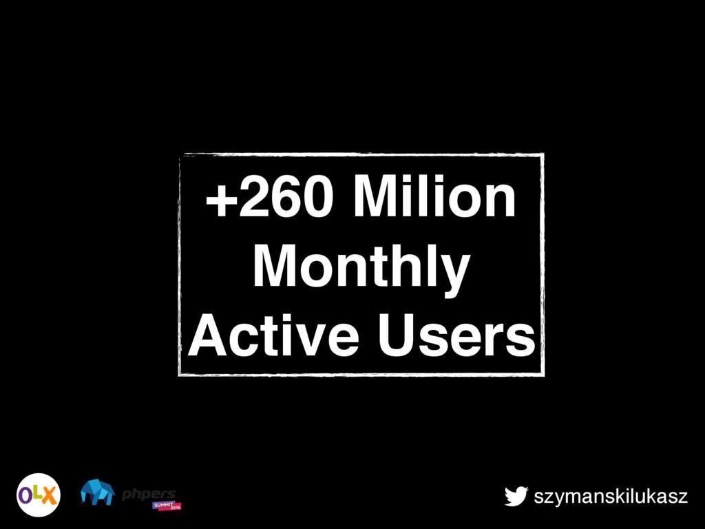 szymanskilukasz +260 Milion Monthly Active Users