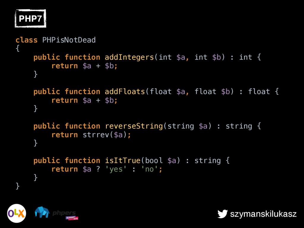 szymanskilukasz PHP7 class PHPisNotDead { pub...