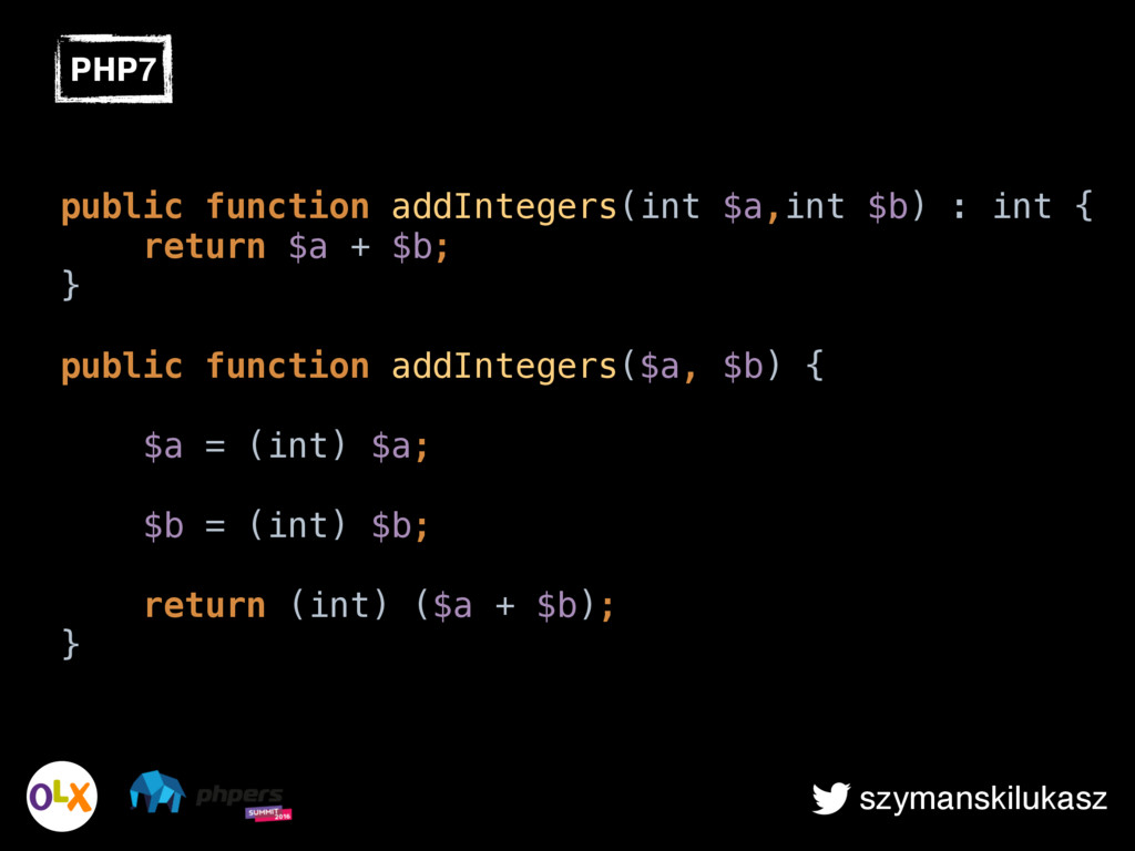 szymanskilukasz public function addIntegers(int...