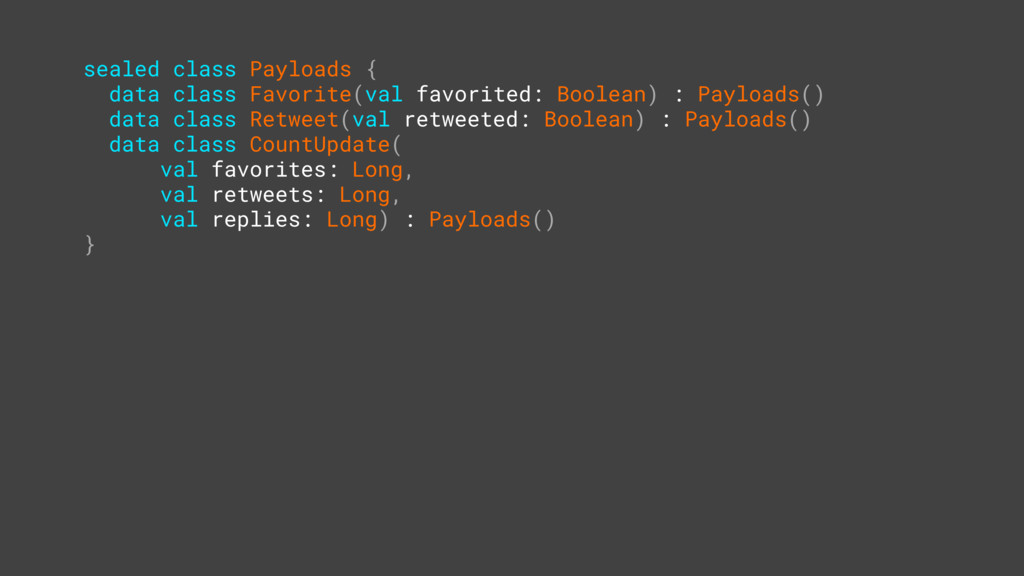 sealed class Payloads { data class Favorite(val...