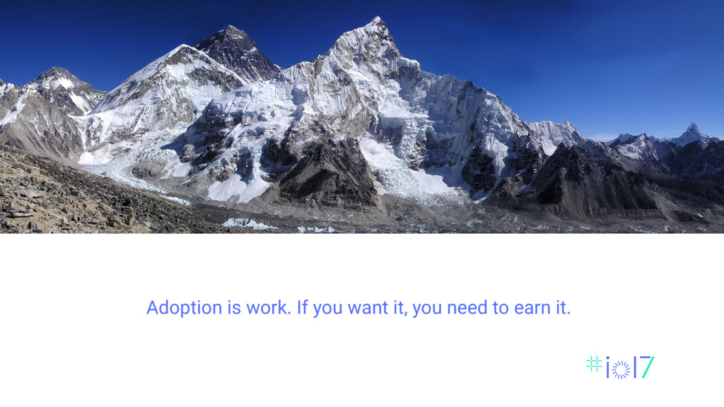Adoption is work. If you want it, you need to e...