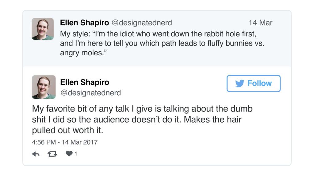 "Ellen Shapiro @designatednerd My style: ""I'm th..."
