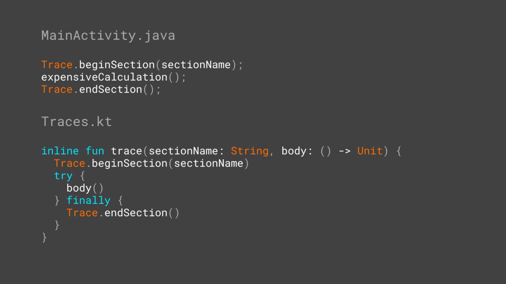 MainActivity.java Trace.beginSection(sectionNam...