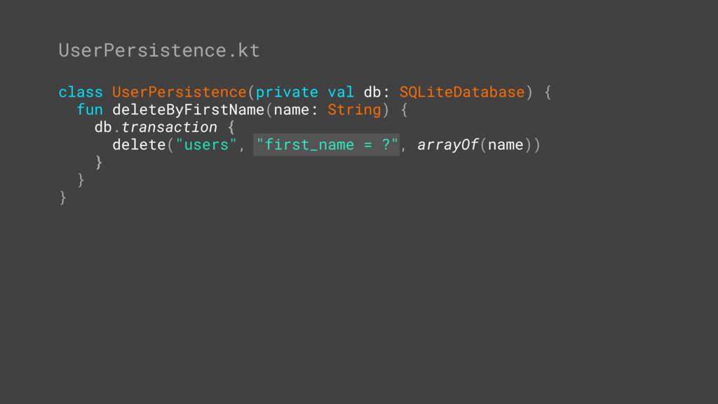 "MainActivity.kt = // ... ""jake"" Databases.kt in..."