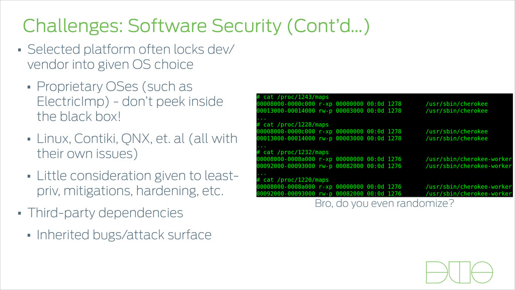 Challenges: Software Security (Cont'd…) • Selec...