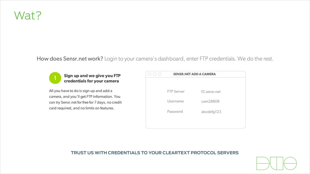 Wat? TRUST US WITH CREDENTIALS TO YOUR CLEARTEX...