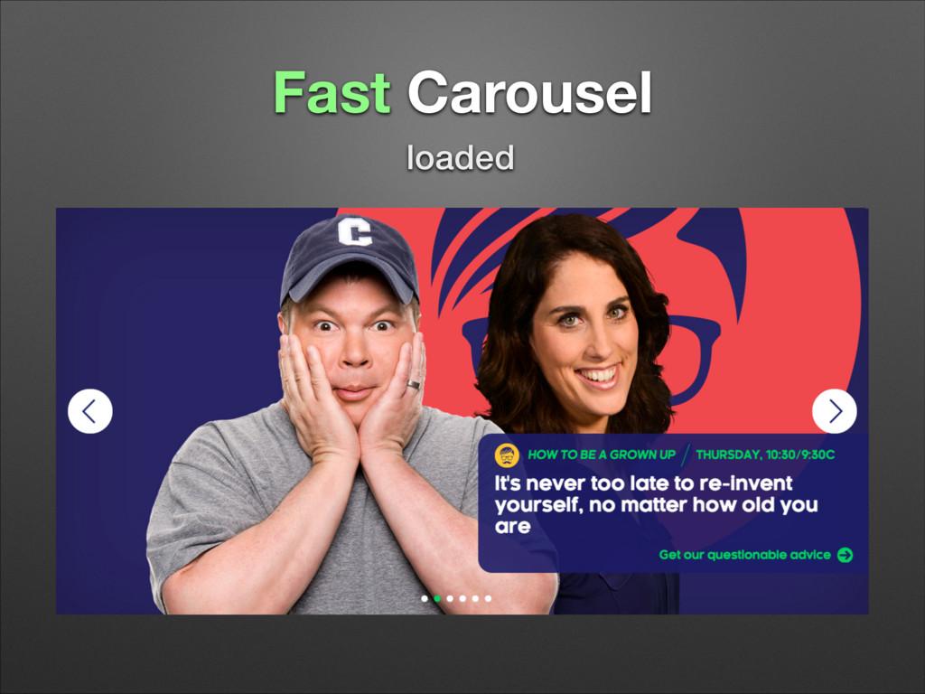 Fast Carousel loaded