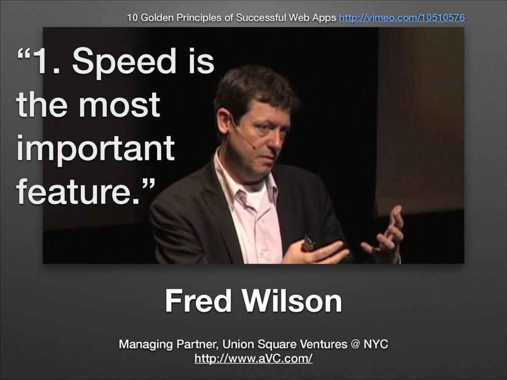 Fred Wilson Managing Partner, Union Square Vent...