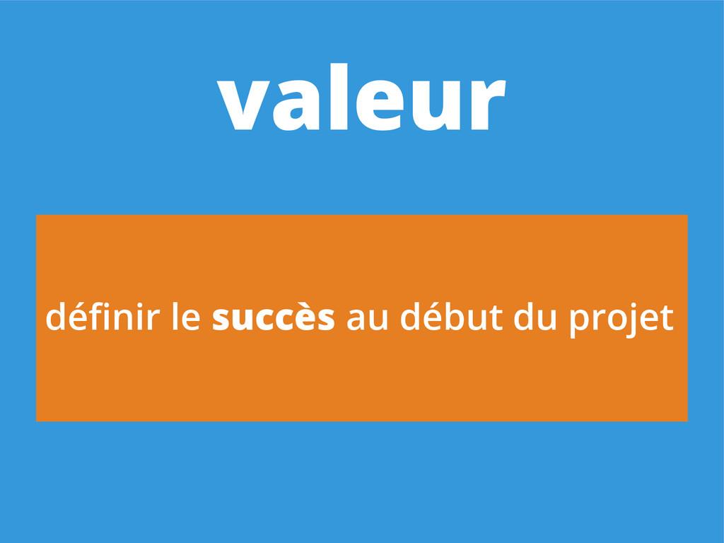définir le succès au début du projet valeur