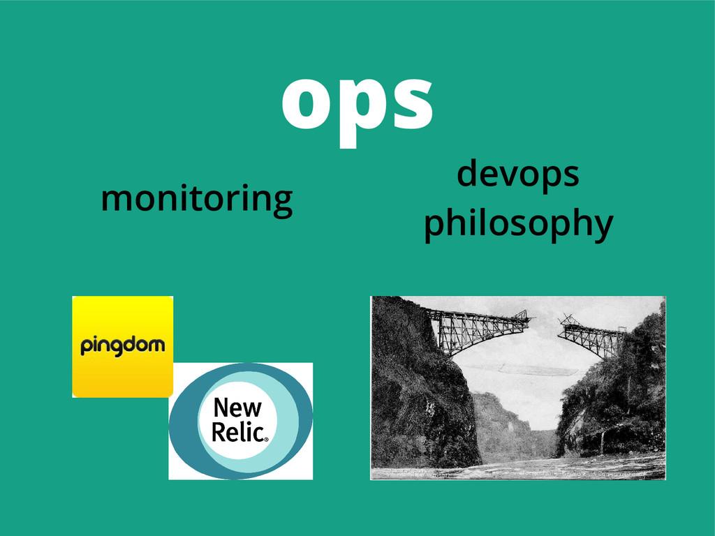ops monitoring devops philosophy